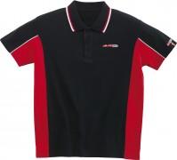 Polo-shirt-sort-rød, S