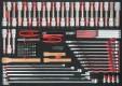 Mejsel-, nøgle-, bitstop-sæt, 106 dele, 1/1 systemkasse